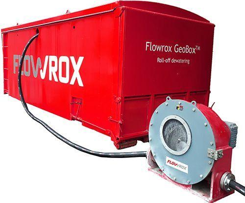 Flowrox GeoBox™ is a roll-off geotextile filtration and dewatering unit.